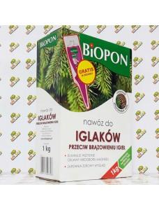 BIOPON Удобрение для хвойных растений от побурения иголок, 1кг