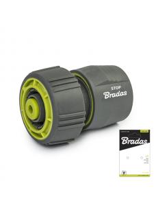 Bradas Коннектор для поливочного шланга с аквастопом 3/4 Soft Lime Line