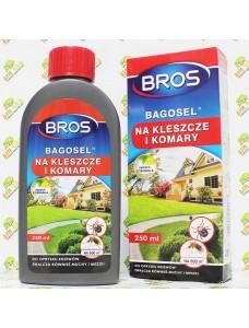 Bros Препарат против комаров, клещей, мух Bagosel, 250мл