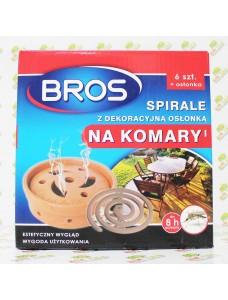 Bros Спираль от комаров + декоративное блюдце
