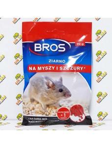 BROS Зерно от крыс и мышей, 90gr