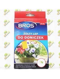 BROS Липкий лист против вредителей комнатных растений, 10 шт.